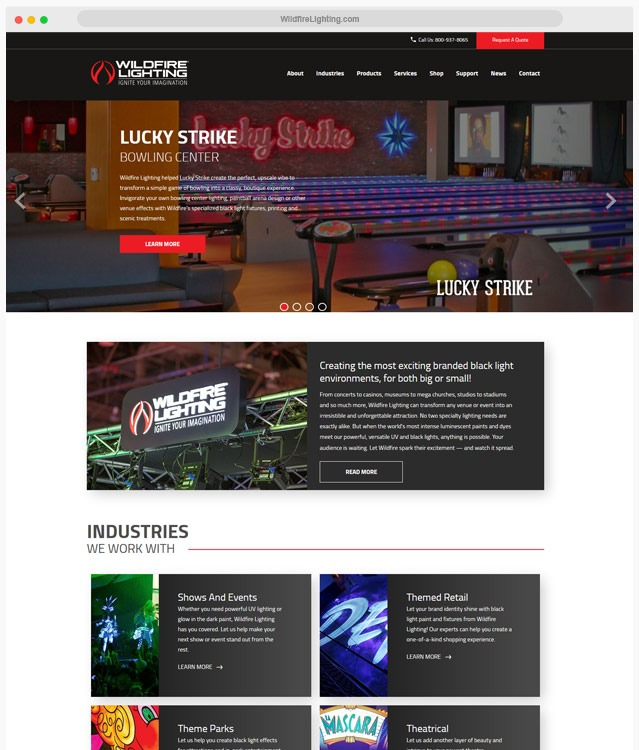 Lighting WordPress Theme